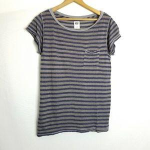 NSF striped pocket tee shirt